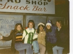 Jodi, Jane, Allison, Gloria, and Lisa-- the bowling alley in 9th grade